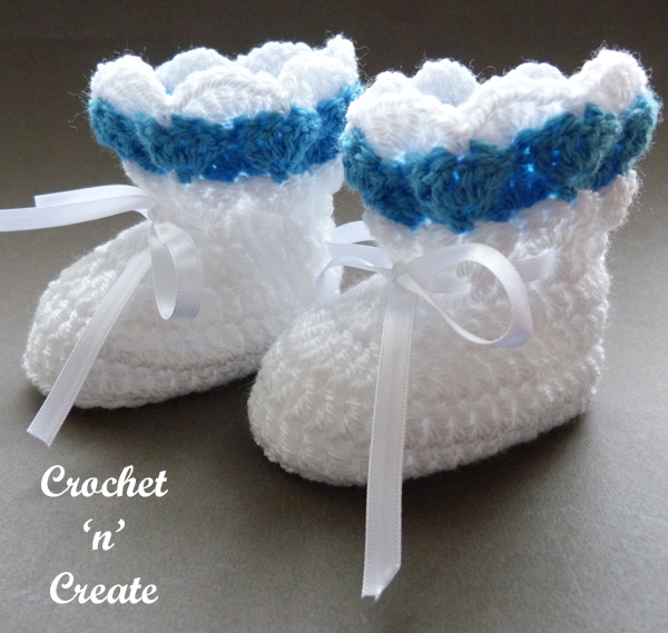 raised shell baby booties10