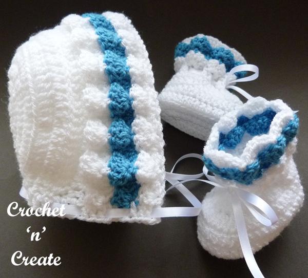baby bonnet-booties