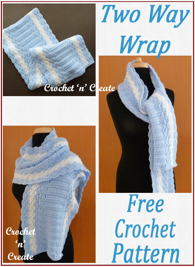 crochet two way wrap