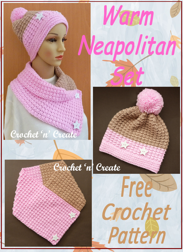crochet warm neapolitan set