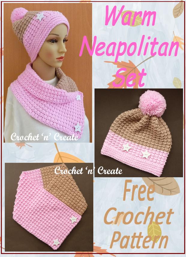 crochet warm neapolitan set