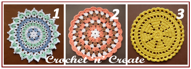 Three across doilies
