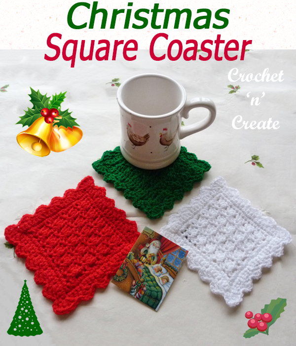 christmas square coaster