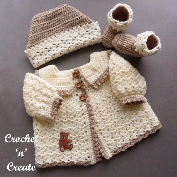 crochet babies picot set