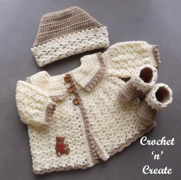 crochet babies picot set3