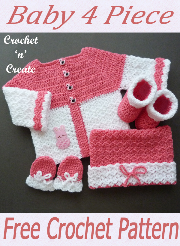 crochet baby 4-piece