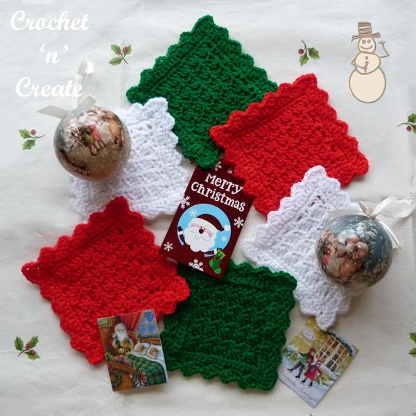 christmas square coaster