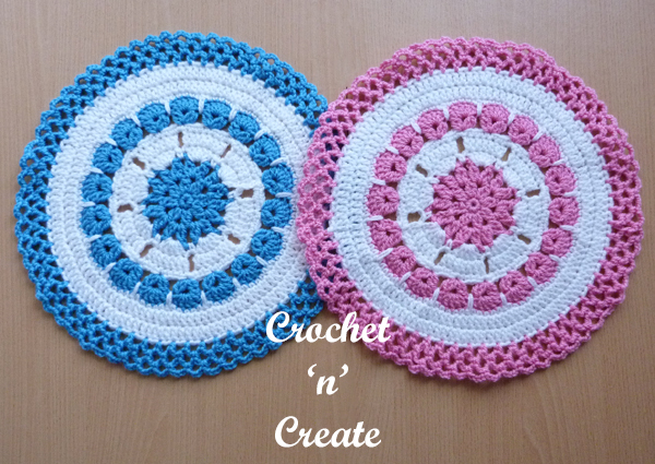 side by side doilies