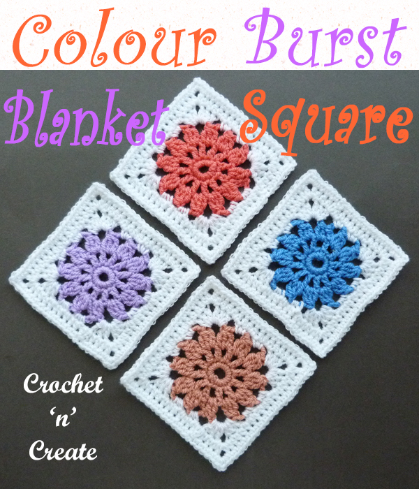 colour burst blanket square