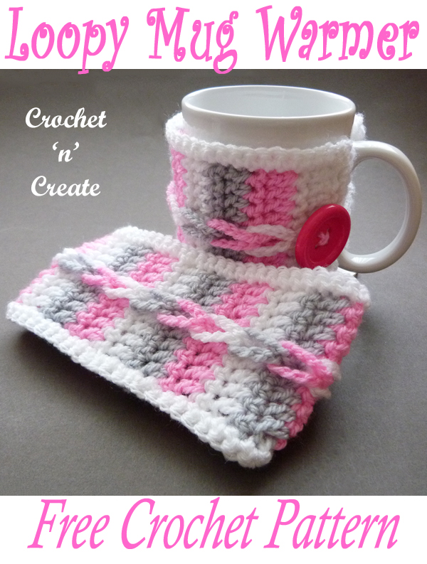 crochet loopy mug warmer