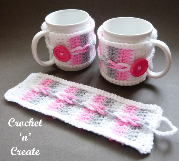 crochet loopy mug warmer