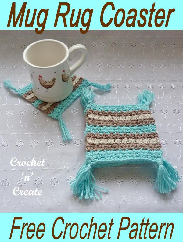 crochet mug rug coaster - Crochet 'n