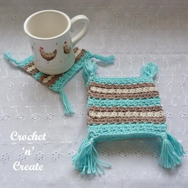 crochet mug rug coaster