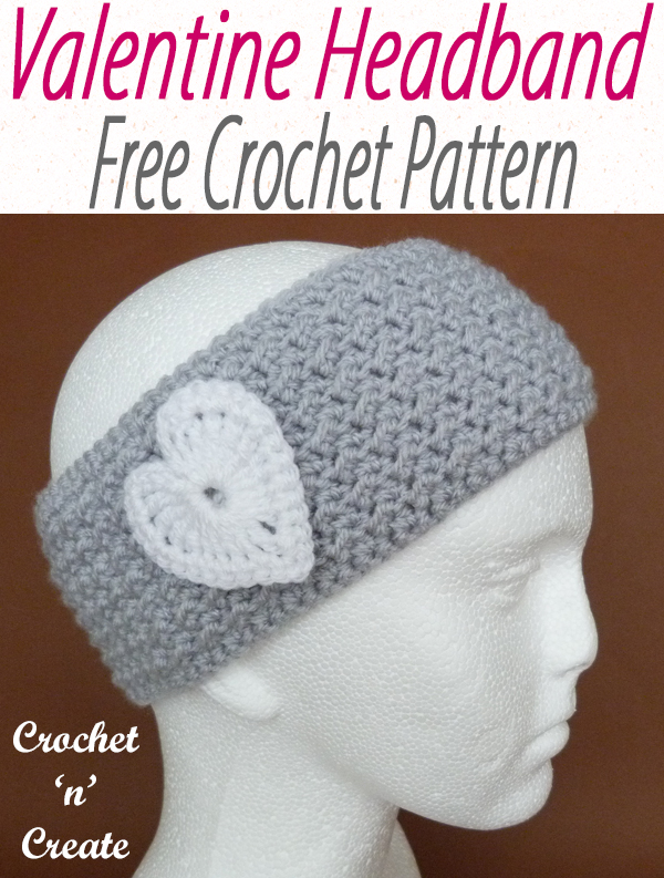 crochet valentine headband