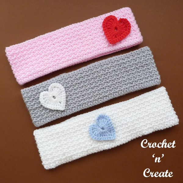 three valentine headband