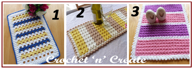 three across table runners