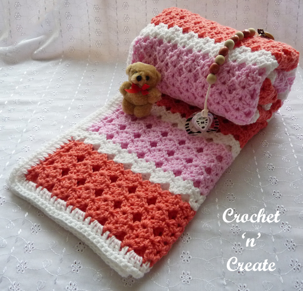 rolled baby blanket