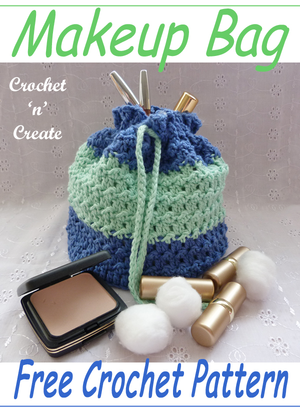 crochet makeup bag