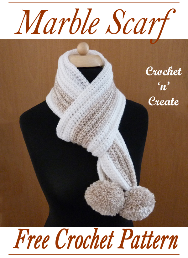 crochet marble scarf