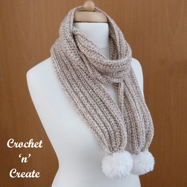 brown marble scarf