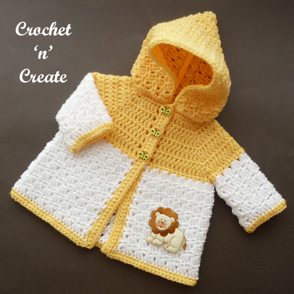 crochet newborn hooded coat