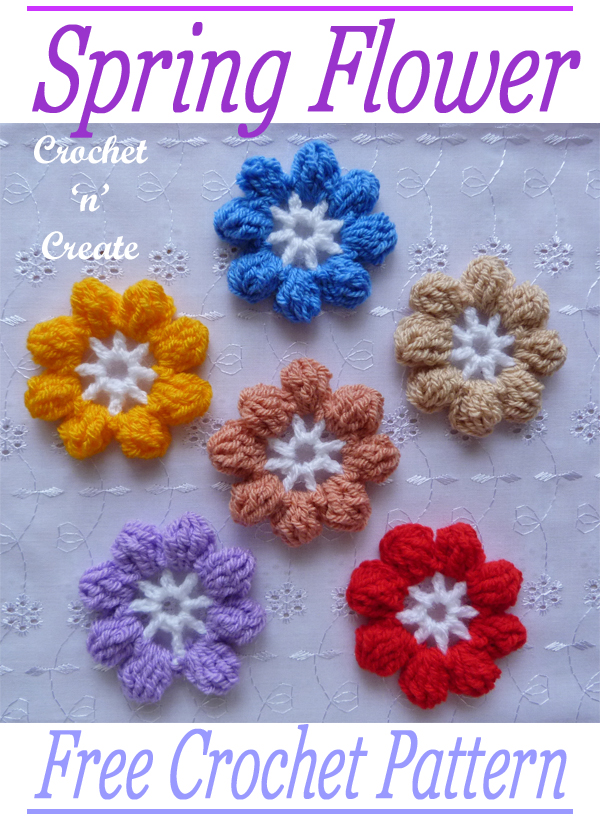 crochet spring flower