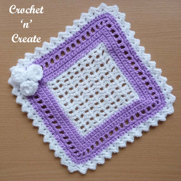 crochet square lace doily