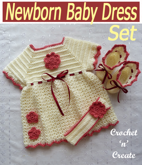 newborn baby dress set