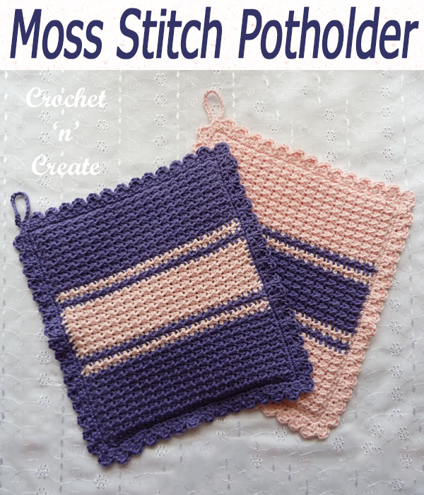 moss stitch potholder