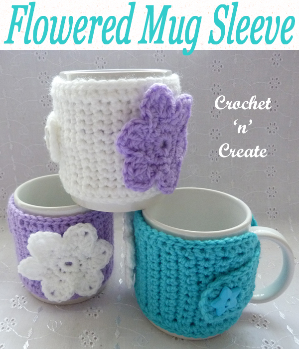 flowered mug sleeve