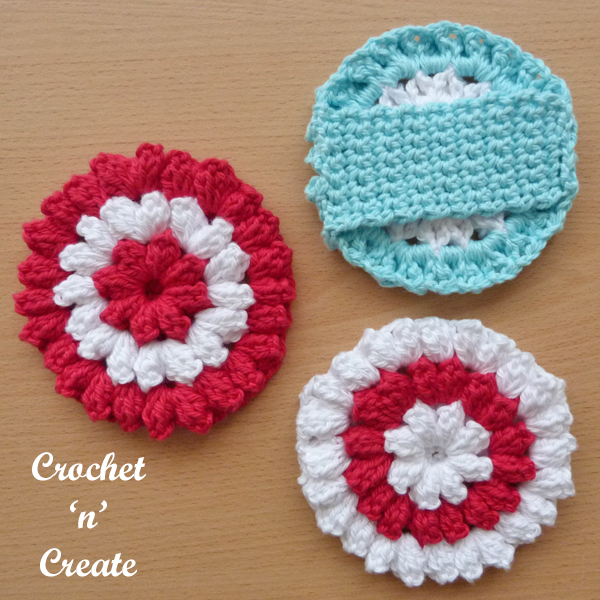 crochet bathtime scrub pattern