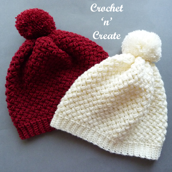 crochet warm beanie pattern