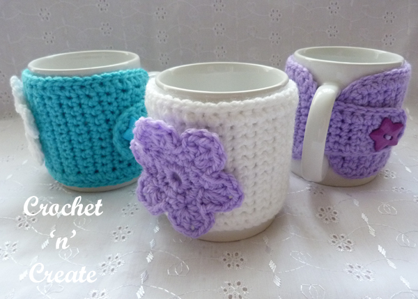 three mug sleeves