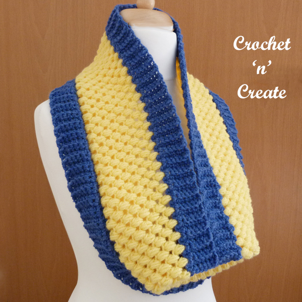 crochet honeycomb cowl pattern