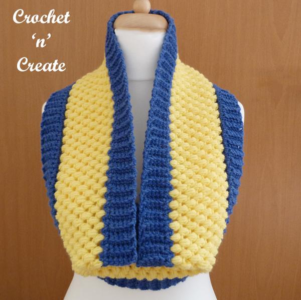 Yellow-blue cowl