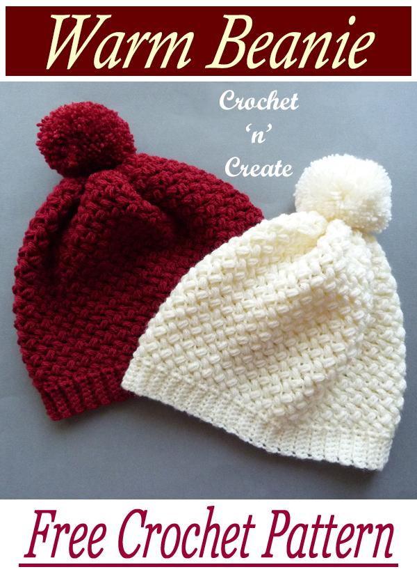 crochet warm beanie