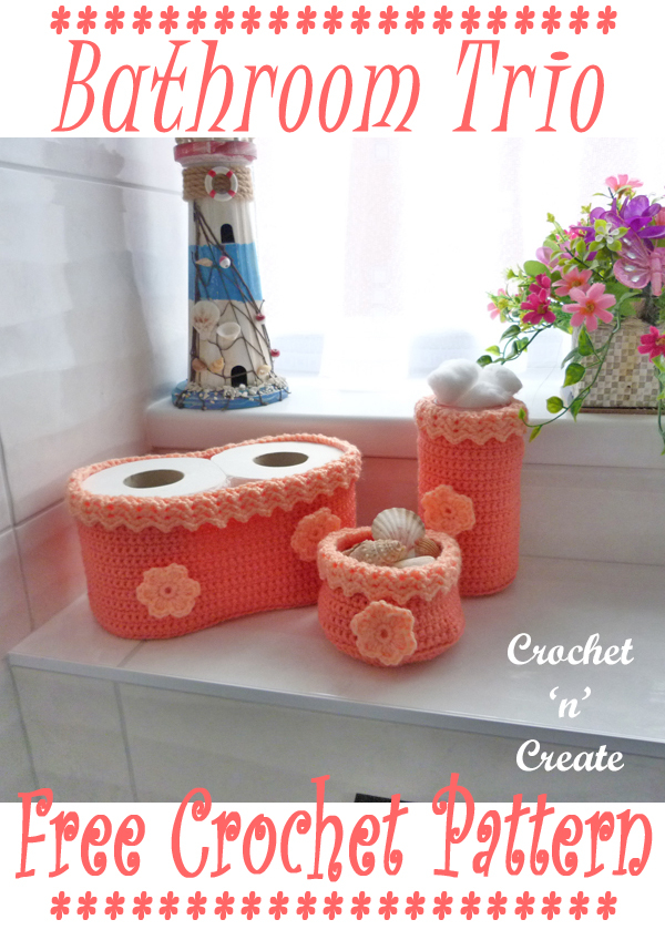 crochet bathroom trio pattern