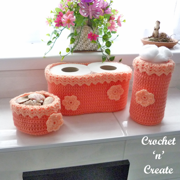 crochet bathroom trio