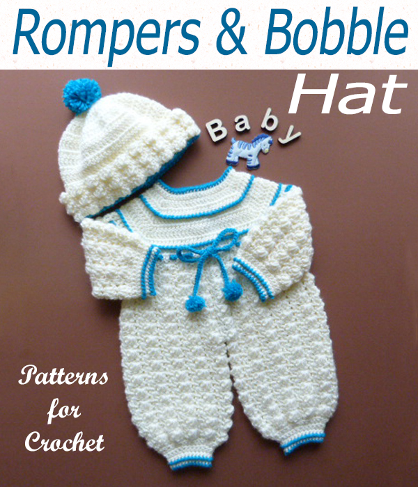 rompers and bobble hat