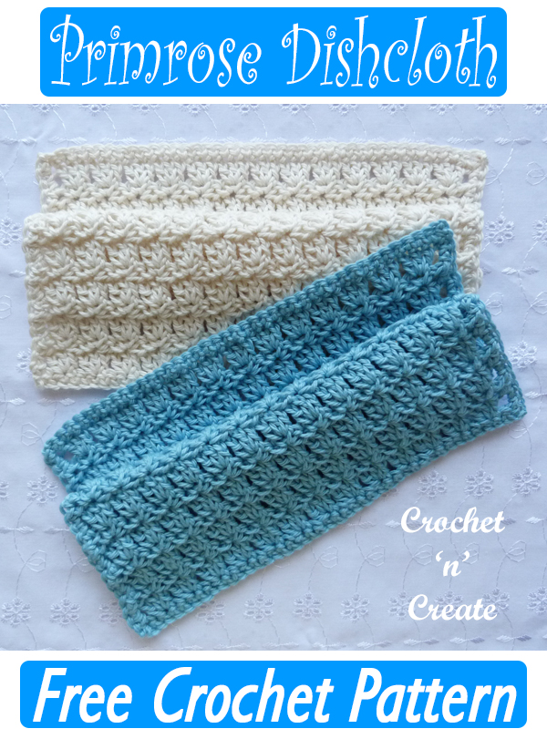 primrose crochet dishcloth pattern