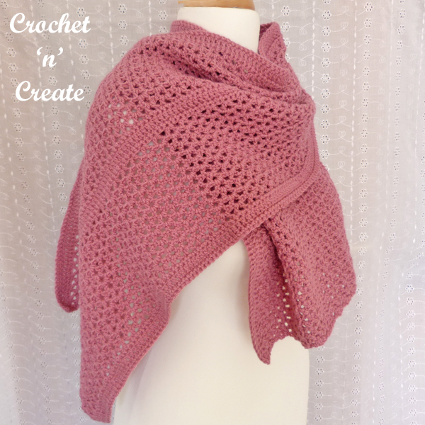 simple crochet wrap pattern