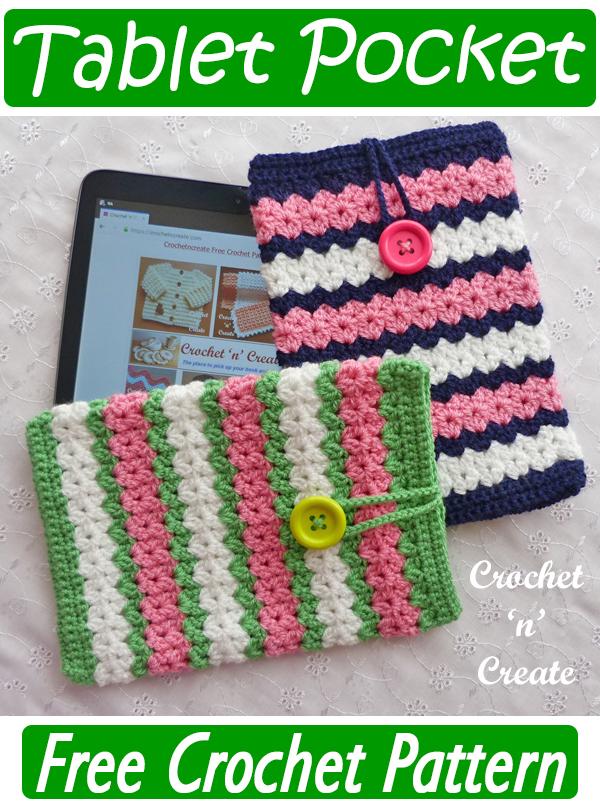 crochet tablet pocket pattern