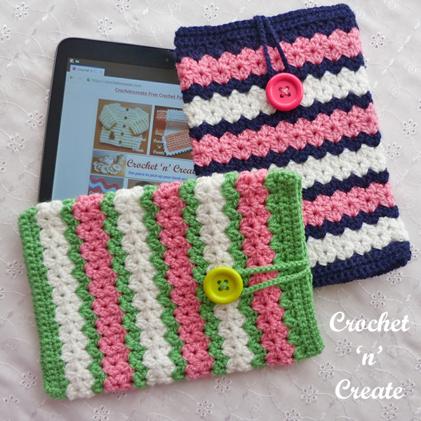 crochet tablet pocket pattern