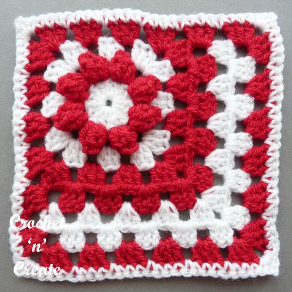 red popcorn motif