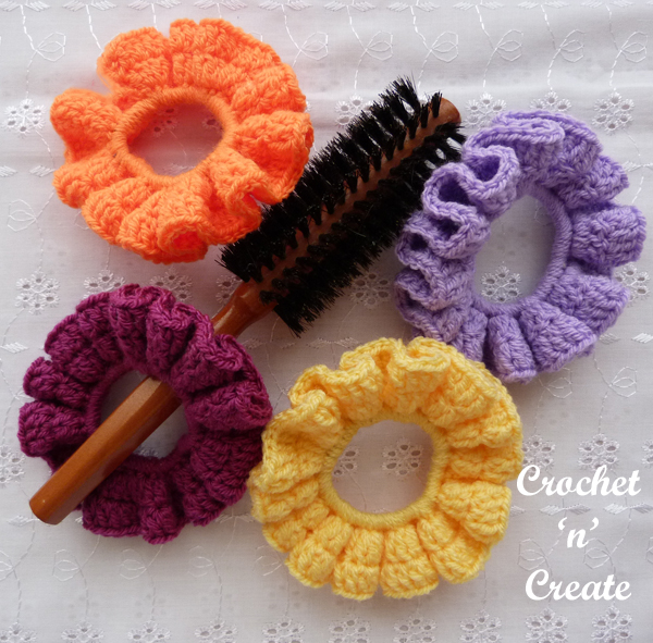brush and scrunchies