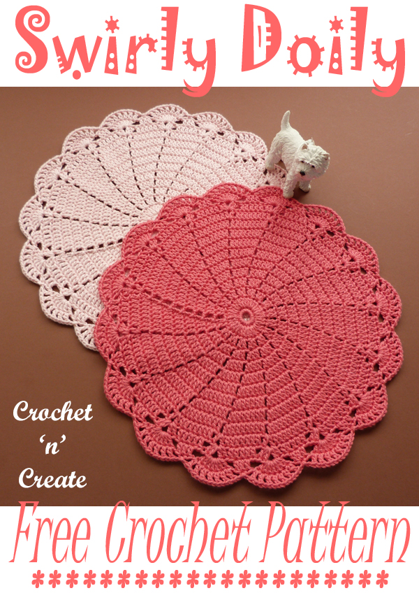crochet swirly doily pattern
