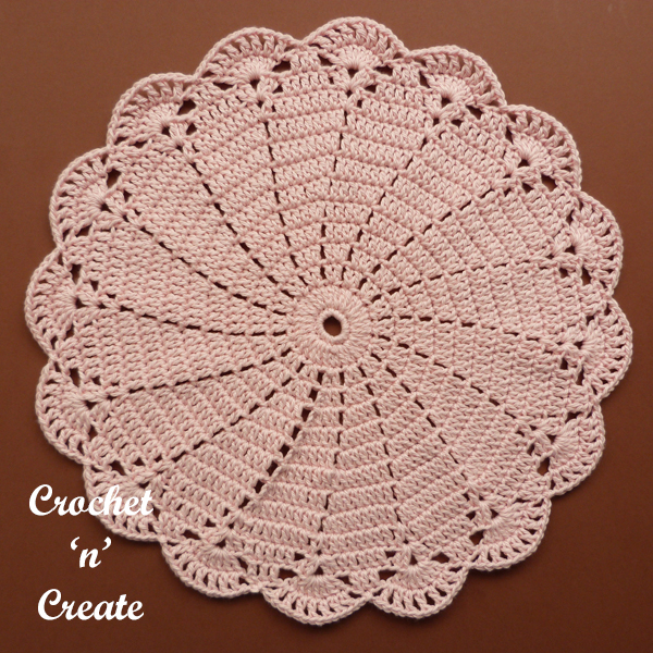 crochet swirly doily