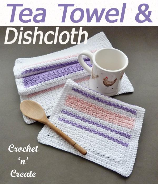 tea towel and dishcloth