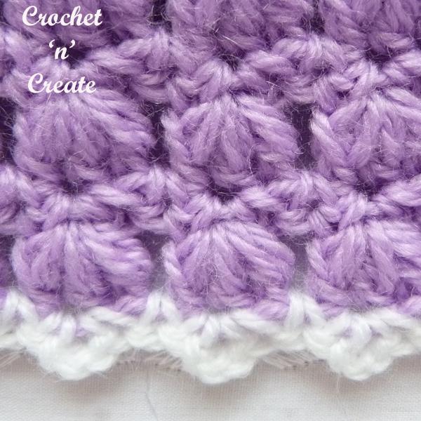 crochet stitch close up