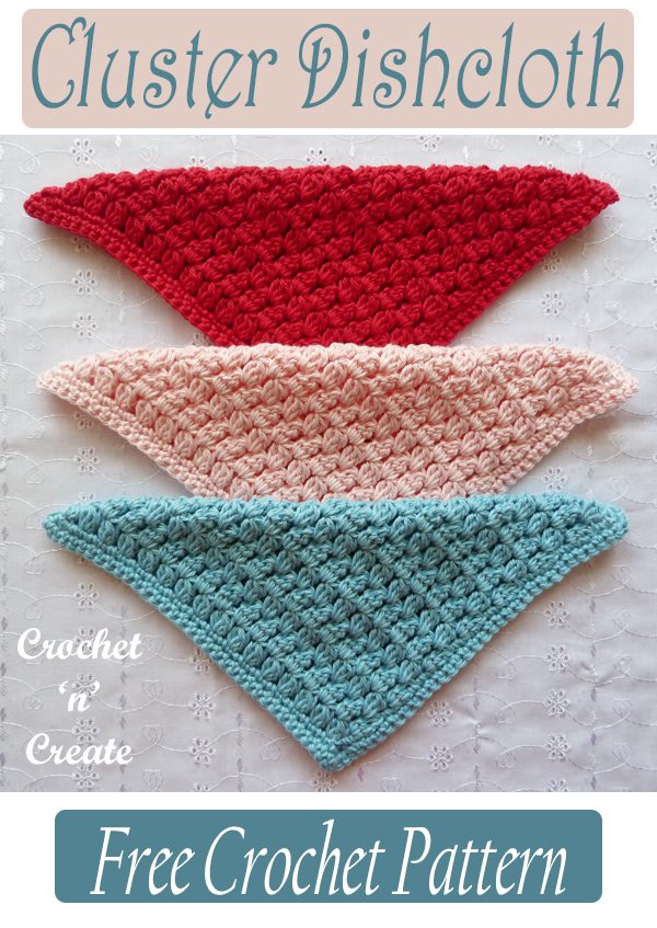 crochet cluster dishcloth pattern